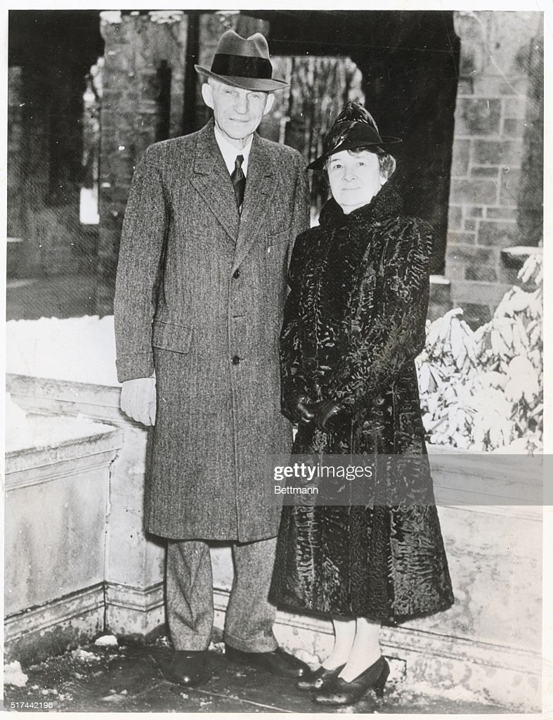 Wed Fifty Years Detroit Michigan The official 50th wedding anniversary photograph of Henry Ford motor magnate and his wife a former farm girl Ford...