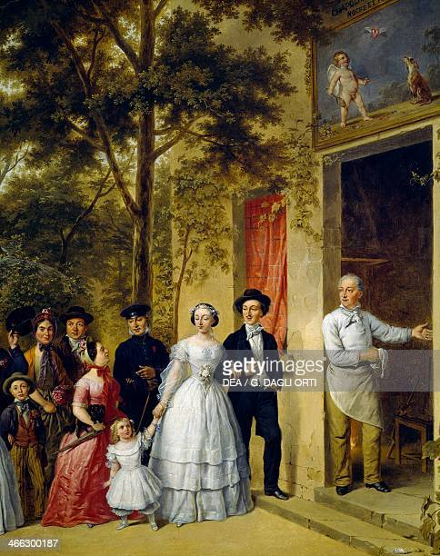 Wedding at Coeur Volant at Marly by an unknown French painter Detail