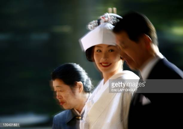 Wedding at Sensoji temple in Tokyo Japan on January 29 2006 Asakusa's main attraction is Sensoji temple a popular Buddhist temple built in the 7th...