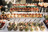 Outdoor wedding food decoration canape