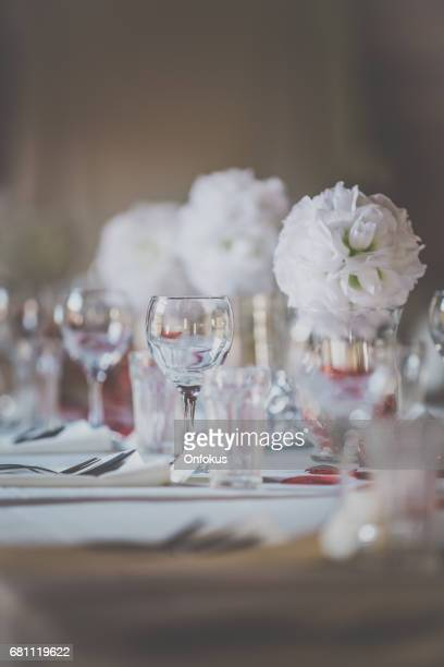 Wedding Birthday Reception Decoration, Chairs, Tables and Flowers