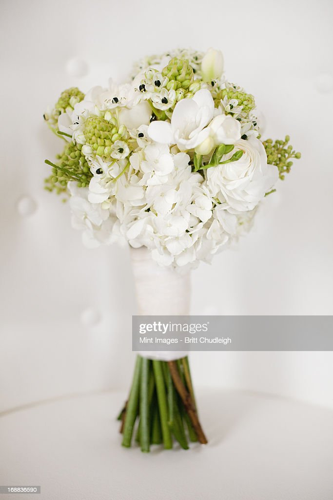 Wedding Flowers White Green : A wedding bouquet white cut flowers green seed heads and