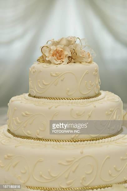 ウェディングケーキのディテール