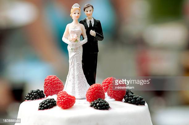 Wedding cake figurine with married man and woman