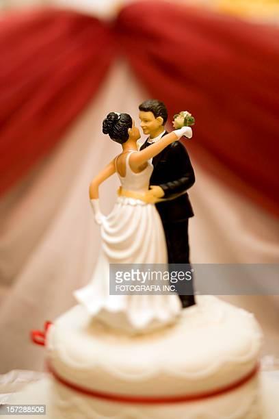 Décoration du gâteau de mariage
