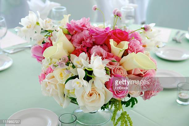 Wedding Centerpiece on Reception Table