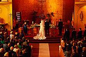 Wedding ceremony in Catholic church