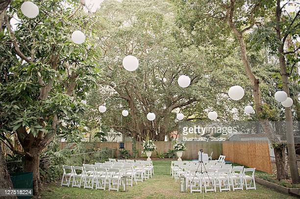Wedding ceremony outdoor garden