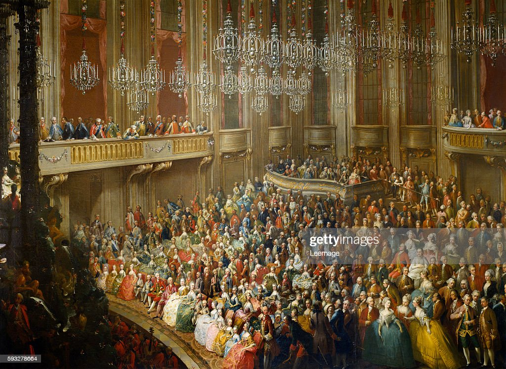 Wedding Concert in 1760 for Joseph II and Isabella of Parma by Martin Meytens the Younger among the depicted guests are Maria Theresa and prince...
