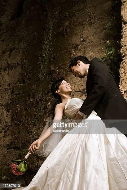 Hochzeit paar Tanzen in der Nacht