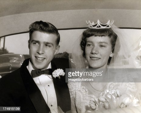 Wedding couple from the 1950's.