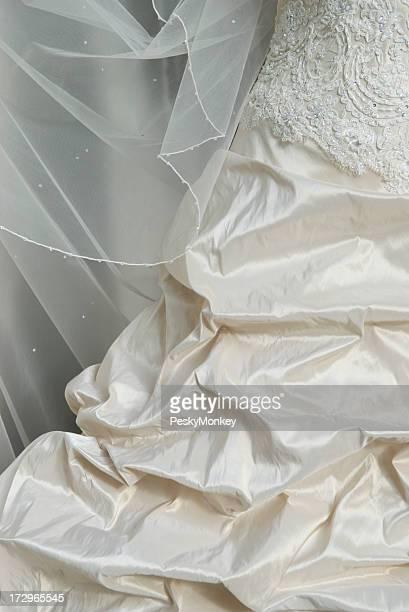 Wedding Dress Detail Ivory Taffeta Silk