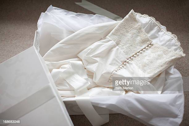 Wedding dress in box