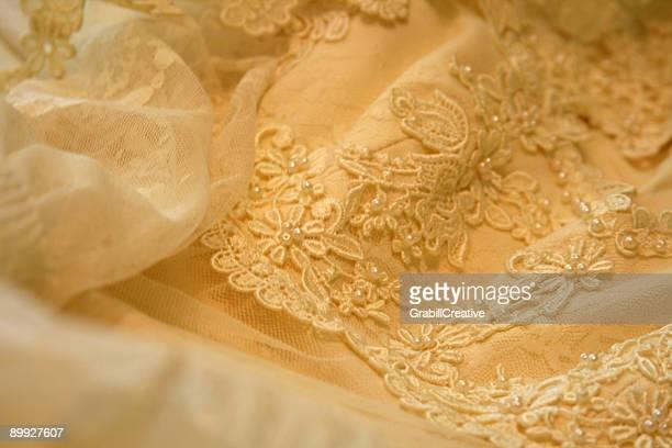 Wedding Dress Lace Detail: Romance Background