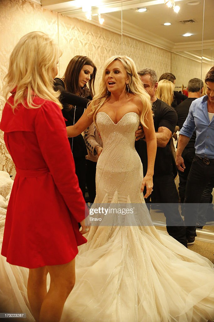 COUNTY-- 'Wedding Dress Stress' Episode 813 -- Pictured: (l-r) Gretchen Rossi, Heather Dubrow, Tamra Barney --