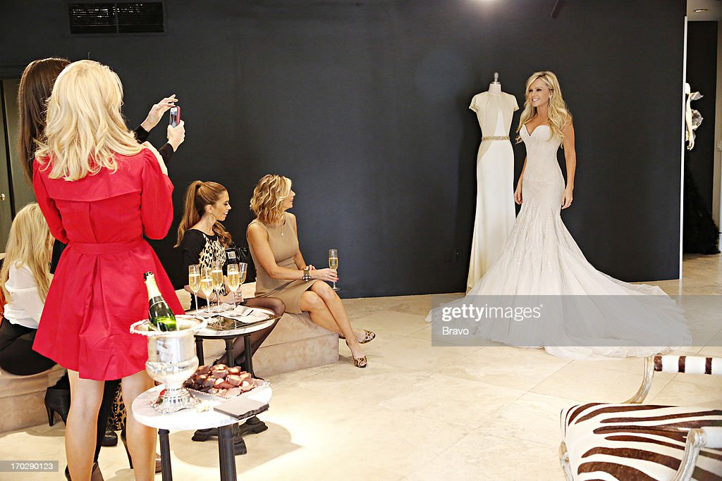 COUNTY --'Wedding Dress Stress' Episode 813 -- Pictured: (l-r) Gretchen Rossi, Lydia McLaughlin, Alexis Bellino, Tamra Barney --
