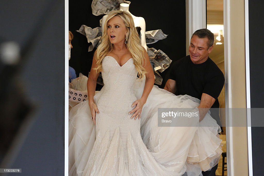 COUNTY-- 'Wedding Dress Stress' Episode 813 -- Pictured: (l-r) Tamra Barney, fashion designer Mark Zunino --