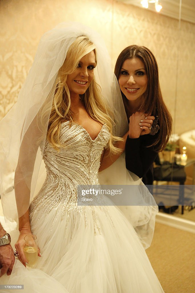 COUNTY-- 'Wedding Dress Stress' Episode 813 -- Pictured: (l-r) Tamra Barney, Heather Dubrow --