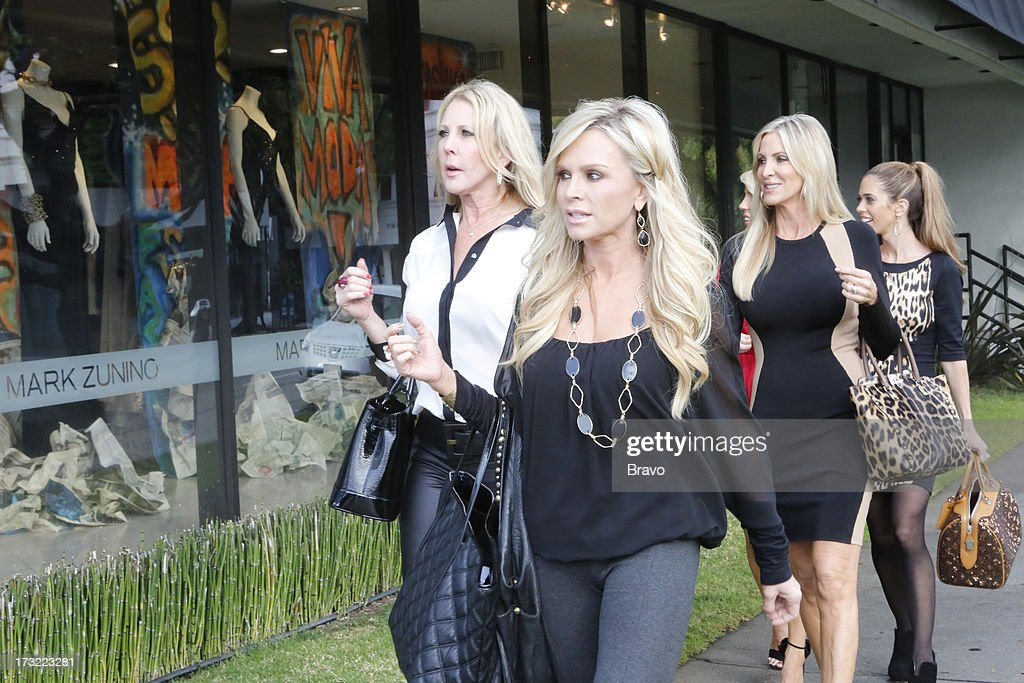 COUNTY-- 'Wedding Dress Stress' Episode 813 -- Pictured: (l-r) Vicki Gunvalson, Tamra Barney, Lauri Peterson, Lydia McLaughlin --