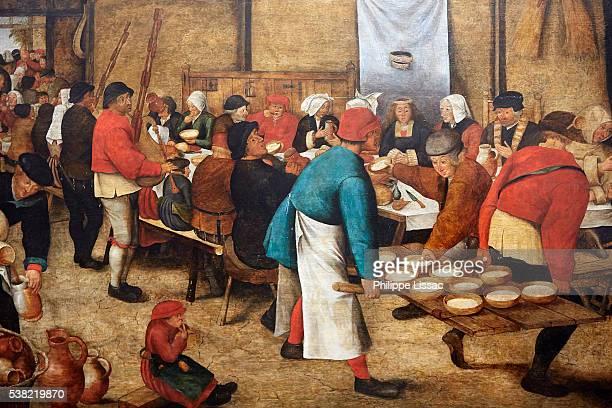 Wedding feast in a barn, by Pieter II Brueghel (1564-1638). Ghent Fine Art Museum