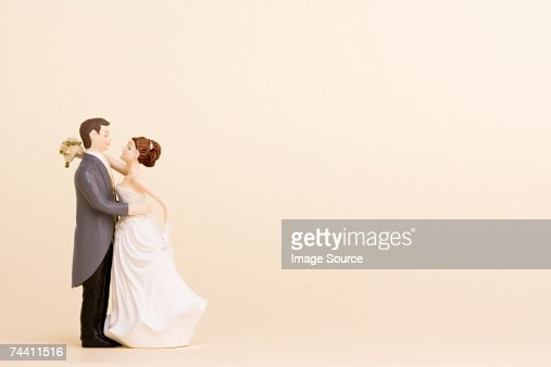 Wedding figurines : Stock Photo