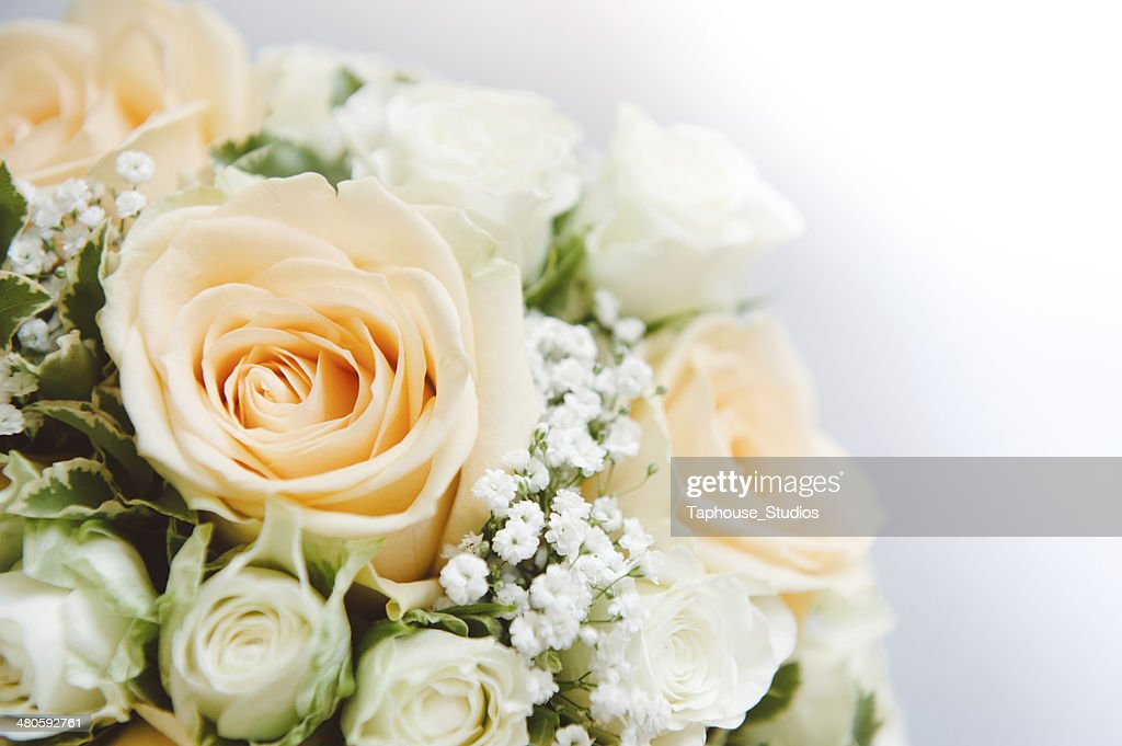 Wedding Flowers Background (copy space) : Stock Photo