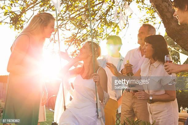 Hochzeit im Garten-Party
