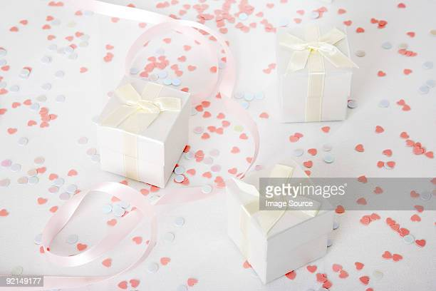 Wedding gifts and confetti