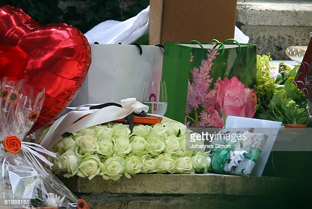Wedding gifts are seen during the ecclestical wedding ceremony of german national player Michael Ballack and Simone Lambe at Bayerischer Yacht Club...