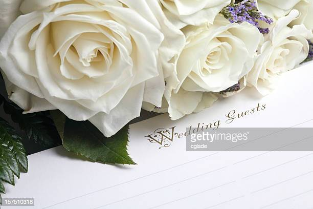Wedding Guest Book and Bouquet