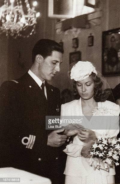 Hochzeit in 1941.Black und weiß.