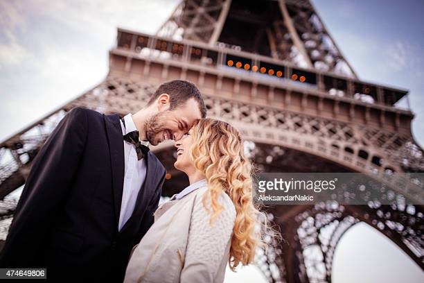 Wedding In front of an Eiffel tower