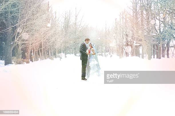 Wedding in snow.
