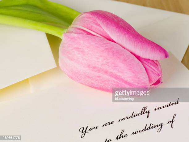 Wedding Invitation and Tulip