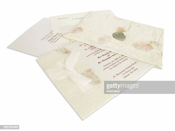 Wedding invitation (clipping path)