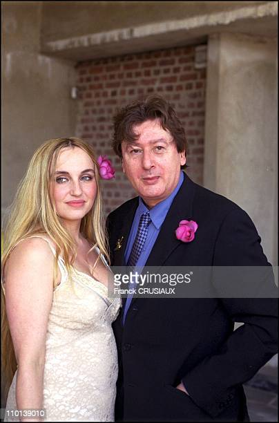 Wedding of Alain bashung with Chloe Mons in France on July 30 2001