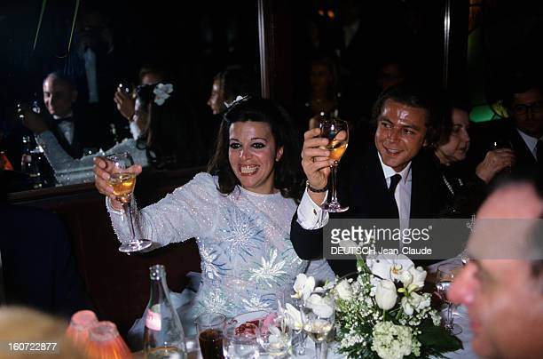 Wedding Of Christina Onassis And Thierry Roussel In Paris Paris 17 mars 1984 A l'occasion du mariage de Chistina ONASSIS et Thierry ROUSSEL soirée...