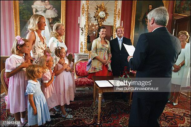 Wedding of Duchess Fleur von Wurtemberg and Count Moritz von Goess at the castle of Altshausen In Altshausen Germany On August 08 2003