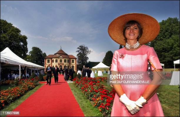 Wedding of Fleur of Wurtemberg and Count Moritz Von Goess In Germany On August 09 2003 Gloria von Thurn und Taxis
