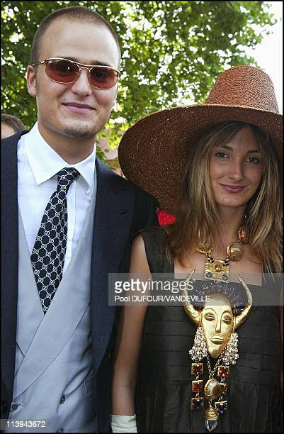 Wedding of Fleur of Wurtemberg and Count Moritz Von Goess In Germany On August 09 2003 Albert and Elisabeth Thurn und Taxis