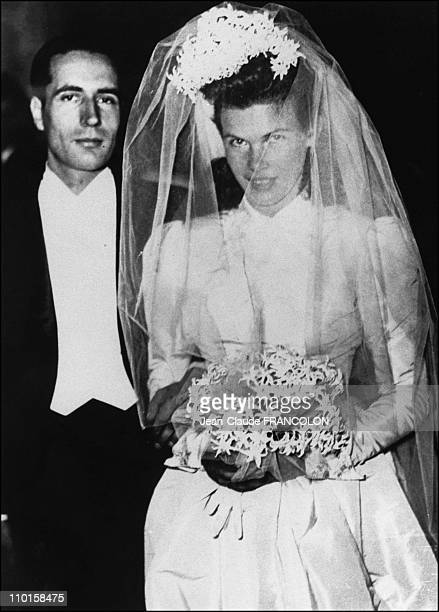 Wedding of former French President Francois Mitterrand and Daniele Gouze who was to become Daniele Mitterrand in France on Octorber 28 1944