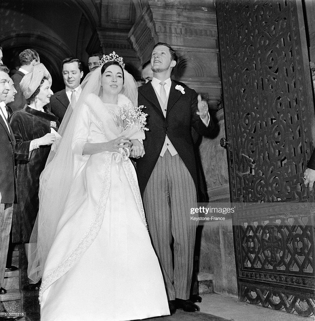 Wedding Of Former King Simeon Of Bulgaria With Dona Margarita Gomez Aceba Y Ceujeta At Vevey Orthodox Church, in Vevey, Switzerland, on January 21, 1962.