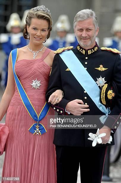 Wedding of Her Royal Highness Crown Princess Victoria of Sweden and Daniel Westling In Stockholm Sweden On June 19 2010Princess Mathilde and Prince...