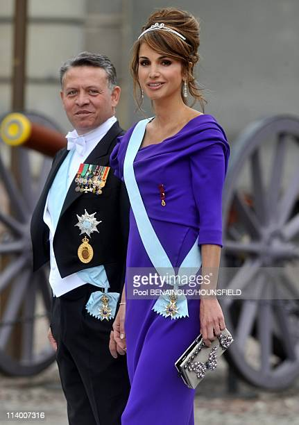 Wedding of Her Royal Highness Crown Princess Victoria of Sweden and Daniel Westling In Stockholm Sweden On June 19 2010King Abdullah and Queen Rania...