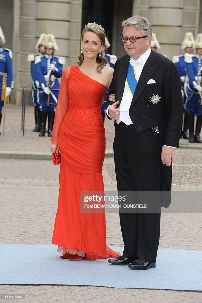 Wedding of Her Royal Highness <a gi-track='captionPersonalityLinkClicked' href=/galleries/search?phrase=Crown+Princess+Victoria+of+Sweden&family=editorial&specificpeople=160266 ng-click='$event.stopPropagation()'>Crown Princess Victoria of Sweden</a> and <a gi-track='captionPersonalityLinkClicked' href=/galleries/search?phrase=Daniel+Westling&family=editorial&specificpeople=662631 ng-click='$event.stopPropagation()'>Daniel Westling</a> In Stockholm, Sweden On June 19, 2010-Prince Laurent of Belgium and princess Claire.