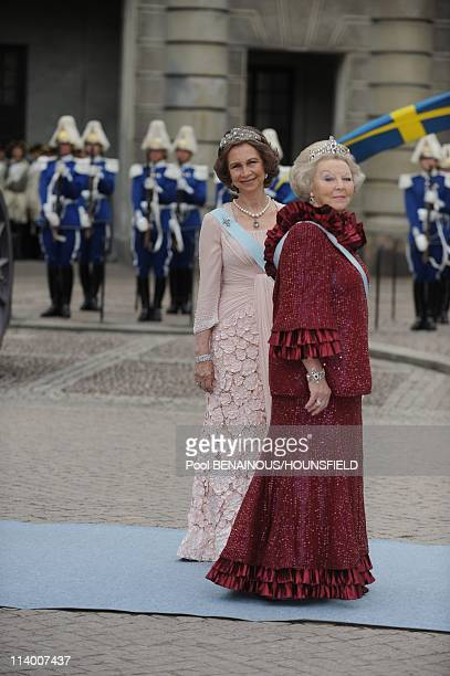Wedding of Her Royal Highness Crown Princess Victoria of Sweden and Daniel Westling In Stockholm Sweden On June 19 2010Queen Beatrix and Queen Sofia...