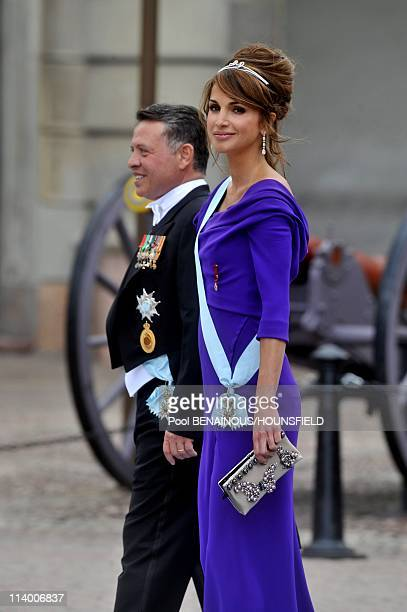 Wedding of HRH Crown Princess Victoria of Sweden and Daniel Westling In Stockholm Sweden On June 19 2010King Abdullah and Queen Rania of Jordany