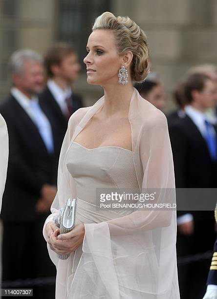 Wedding of HRH Crown Princess Victoria of Sweden and Daniel Westling In Stockholm Sweden On June 19 2010Prince Albert II of Monaco and Charlene...