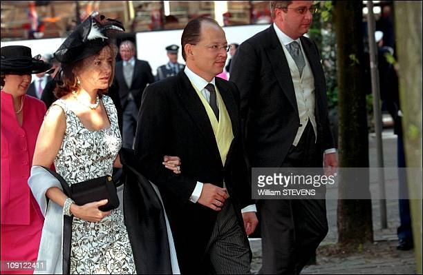 Wedding Of Prince Constantin And Laurentien Brinkhorst On May 19Th 2001 In The Hague Netherlands Prince Kardam Of Bulgaria And Wife