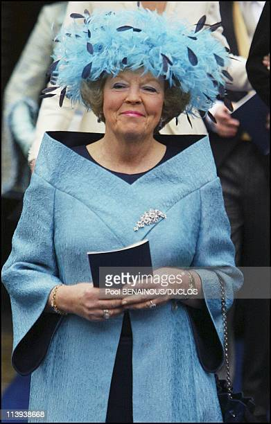 Wedding of Prince Friso and Miss Mabel Smit in Delft Netherlands On April 20 2004Queen Beatrix
